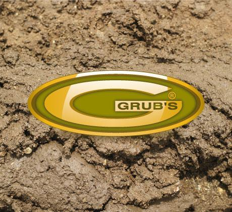 Grubs International logo Designed by dznstudios